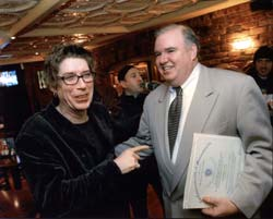 On Wednesday, April 7, 2004 Brian's brother, State Rep. Kevin Honan, presented members of the Psychedellic Furs with a citation for their musical contributions